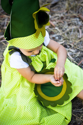 Handmade children elf costume