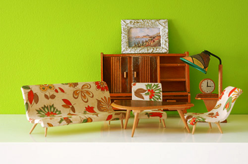 vintage children mini furniture