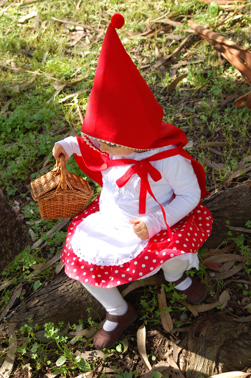 handmade children's Little Red Riding Hood costume