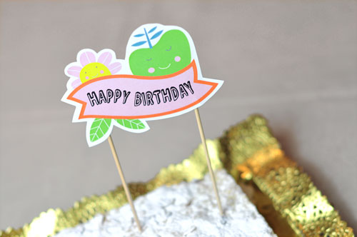 Freebie Happy Birthday Cake Topper Printable