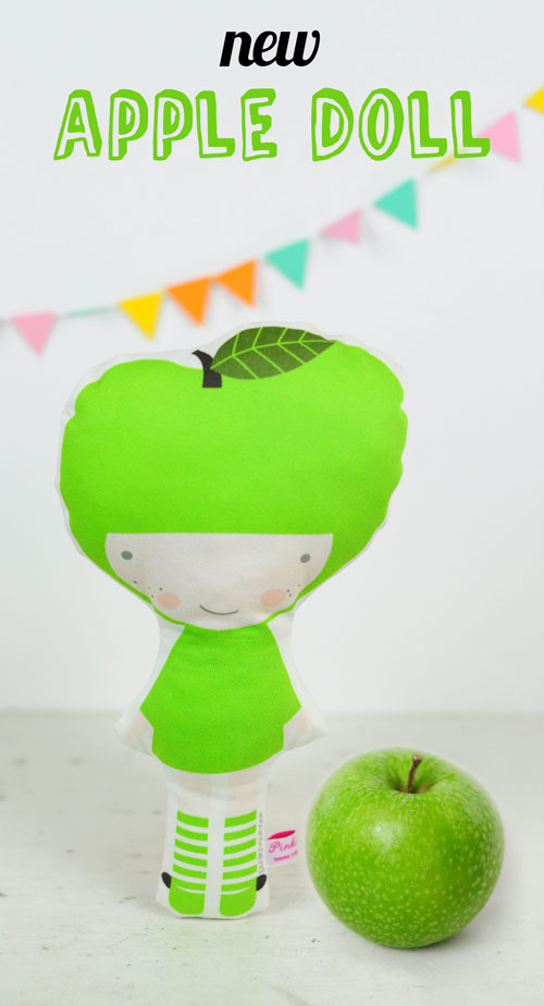 Apple fruit doll by PinkNounou - 1