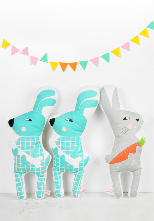 new dog and bunny sof toy dolls by PinkNounou 1