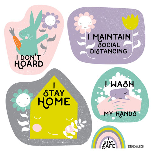 I Stay Home illustration by PinkNounou 2