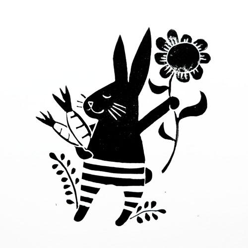 block print illustration by PinkNounou 3A