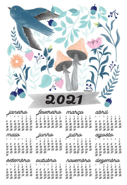 illustration calendar by PinkNounou 19A