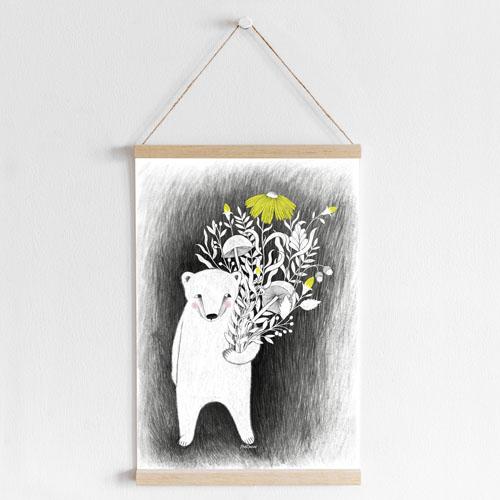 floral poster mockup
